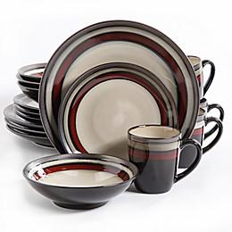 Gibson Elite Lewisville 16-Piece Dinnerware Set in Red
