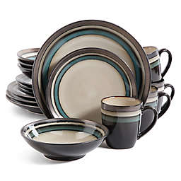 Gibson Elite Lewisville 16-Piece Dinnerware Set in Teal