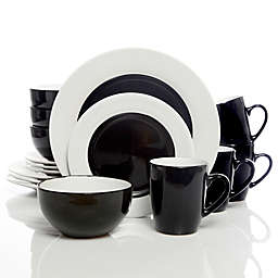Gibson Home Style Deluxe 16-Piece Dinnerware Set in Black