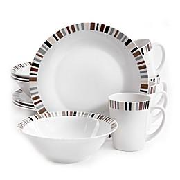 Gibson Home Lanvale 12-Piece Dinnerware Set