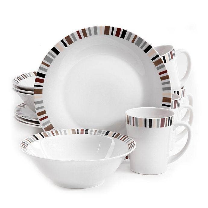 Alternate image 1 for Gibson Home Lanvale 12-Piece Dinnerware Set