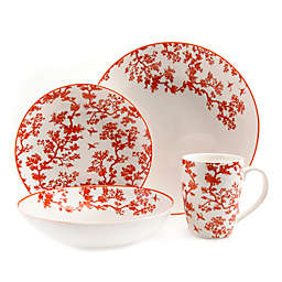 Gibson Overseas Florence Broadhurst The Crane 4-Piece Place Setting in White