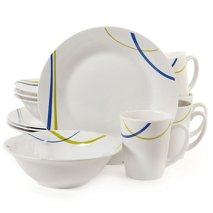 Alternate image 1 for Gibson Home Divine Streams 12-Piece Dinnerware Set