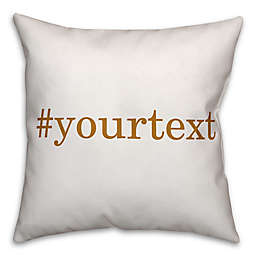 Designs Direct Serif Font Hashtag Square Throw Pillow in Yellow