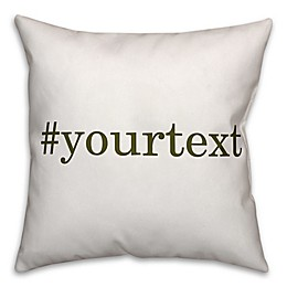 Designs Direct Serif Font Hashtag Square Throw Pillow
