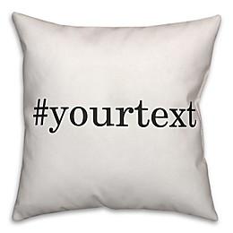 Designs Direct Serif Font Hashtag Square Throw Pillow