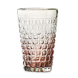 Amici Home Cobblestone Highball Glasses in Amethyst Ombre (Set of 4)
