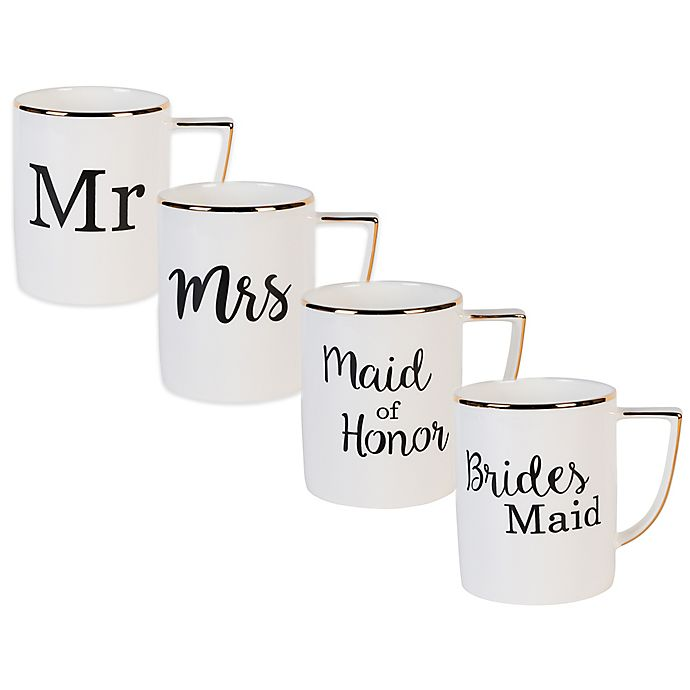 Alternate image 1 for Olivia & Oliver® Wedding Party Mug Collection