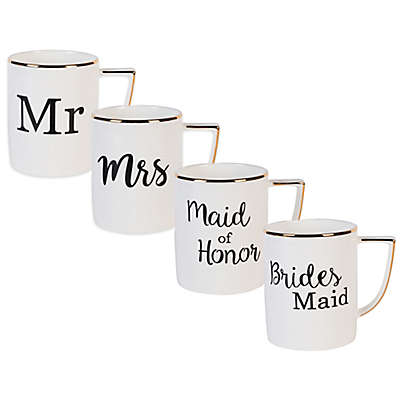 Olivia & Oliver Wedding Party Mug Collection