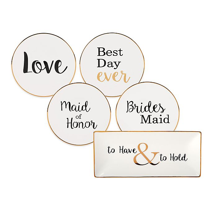 Alternate image 1 for Olivia & Oliver Wedding Party Trinket Tray Collection in White