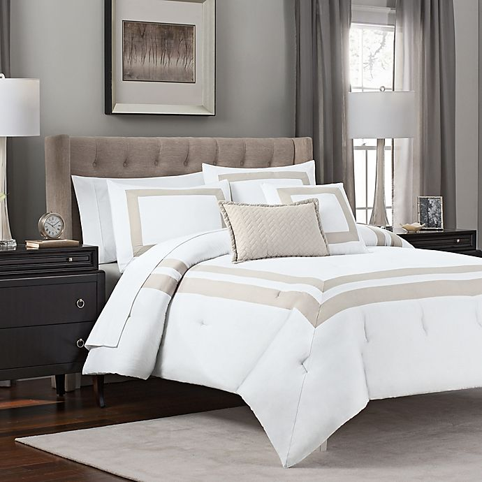 Alternate image 1 for Double Banded 5-Piece Hotel Style Comforter Set