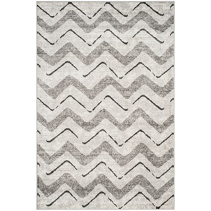 Alternate image 1 for Safavieh Adirondack Chevron 6-Foot x 9-Foot Area Rug in Silver
