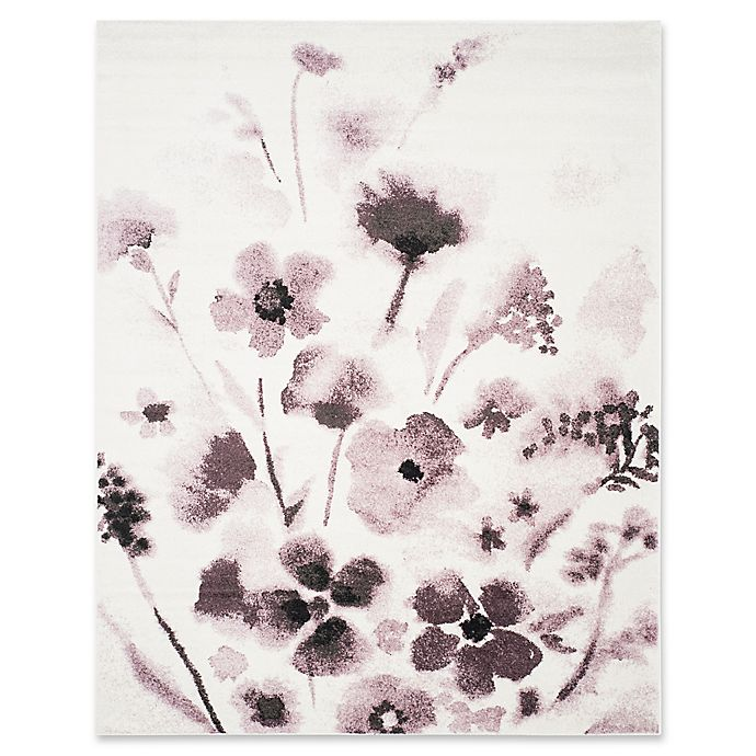 Alternate image 1 for Safavieh Adirondack Watercolor Floral 9-Foot x 12-Foot Area Rug in Ivory