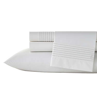 Vera Wang™ Lux Mirror Square Sheets in White