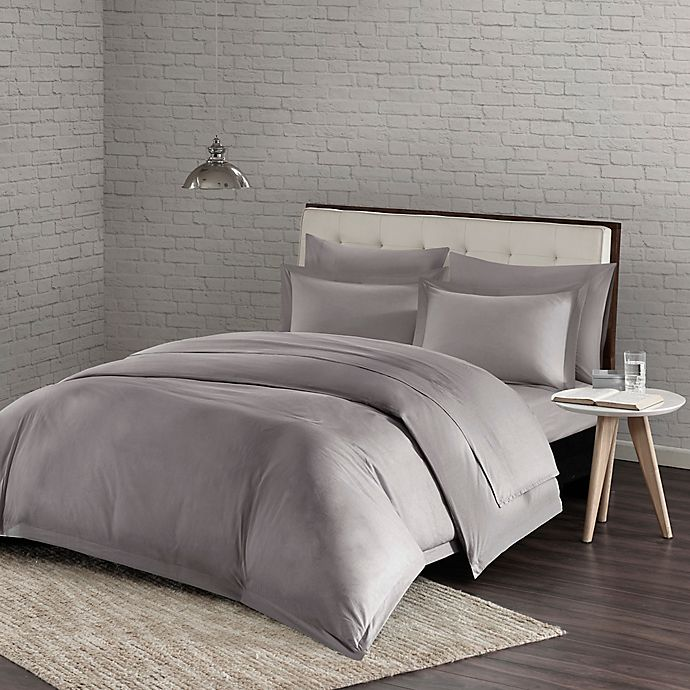 buy urban habitat comfort wash twin twin xl duvet cover set in grey from bed bath beyond. Black Bedroom Furniture Sets. Home Design Ideas