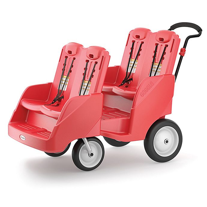 Alternate image 1 for Foundations® Gaggle 4 Multi-Passenger Buggy in Red