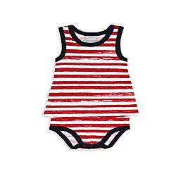 Coccoli Carnival in Venice Sleeveless Baby Doll Bodysuit in Red Stripe