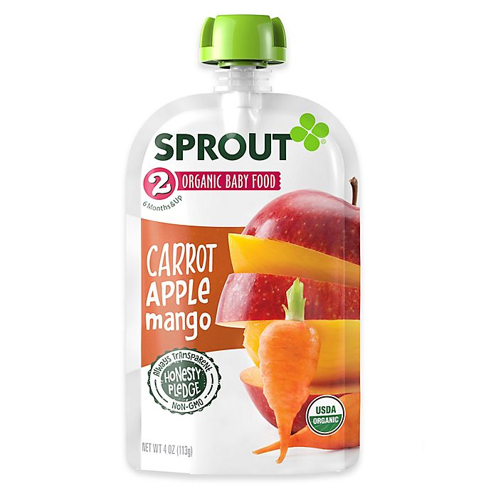 Alternate image 1 for Sprout® 4-Ounce Stage 2 Organic Baby Food in Carrot, Apple and Mango