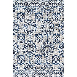 Magnolia Home by Joanna Gaines Lotus Rug in Blue/Ivory