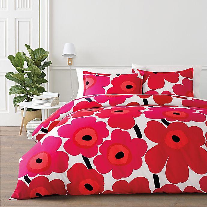 Alternate image 1 for marimekko® Unikko 2-Piece Twin Duvet Cover Set in Red