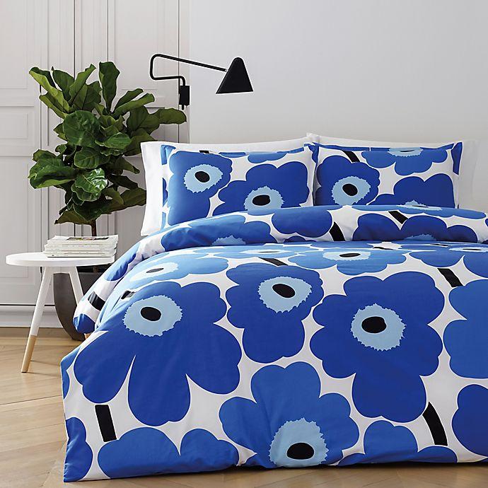 Alternate image 1 for marimekko® Unikko King Duvet Cover Set in Blue