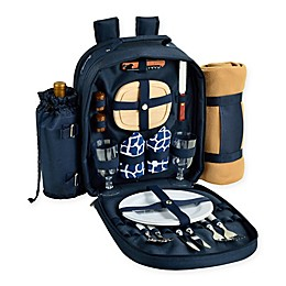 Picnic at Ascot Trellis 2-Person Picnic Backpack with Blanket