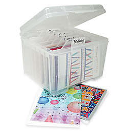 IRIS® Card Storage Box with Dividers