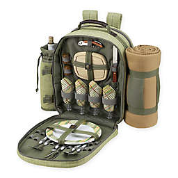 Picnic at Ascot 4-Person Picnic Backpack with Blanket