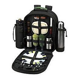 Picnic At Ascot™ Bold Picnic and Coffee Backpack with Service For 2