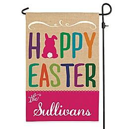 """""""Hoppy Easter"""" Outdoor Garden Flag"""