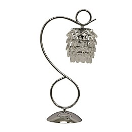 Décor Therapy Crystal Table Lamp in Chrome