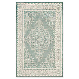 Safavieh Kenya Bordered Floral Rug in Ivory/Blue