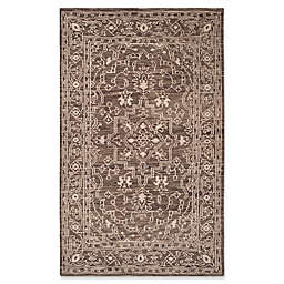 Safavieh Kenya Bordered Tribal Rug in Brown/Beige