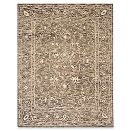 Safavieh Kenya Bordered Tribal 9-Foot x 12-Foot Area Rug in Brown/Beige