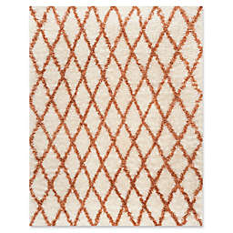 Safavieh Kenya Diamond 8-Foot x 10-Foot Area Rug in Ivory/Terracotta