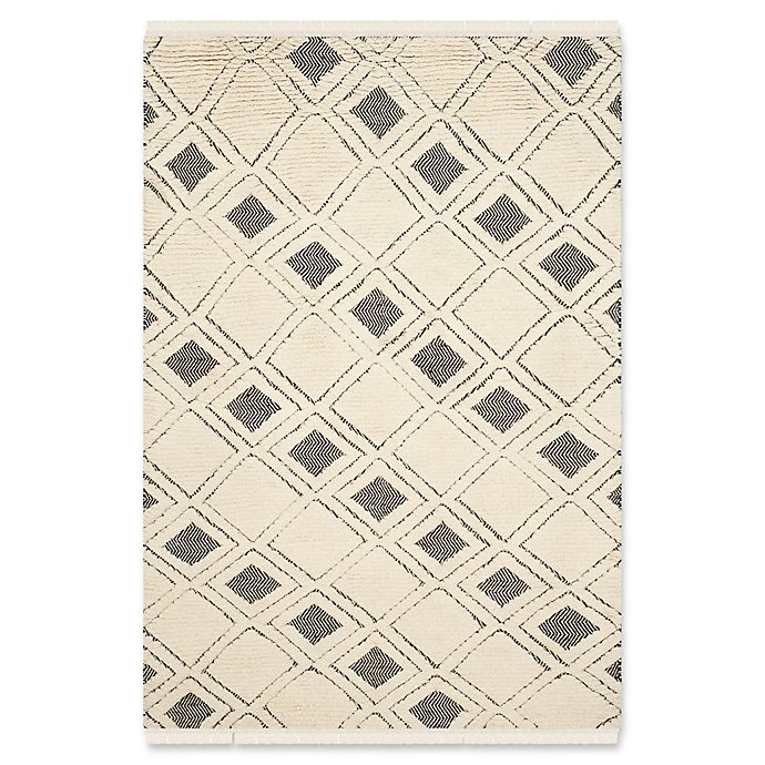 Alternate image 1 for Safavieh Kenya Modern Boxes 6-Foot x 9-Foot Area Rug in Ivory/Black
