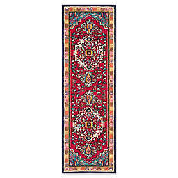 Safavieh Monaco Traditional 2-Foot 2-Inch x 22-Foot Runner in Red/Turquoise