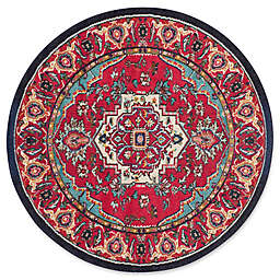 Safavieh Monaco Traditional 5-Foot x 5-Foot Area Rug in Red/Turquoise