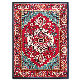 Safavieh Monaco Traditional Rug in Red/Turquoise