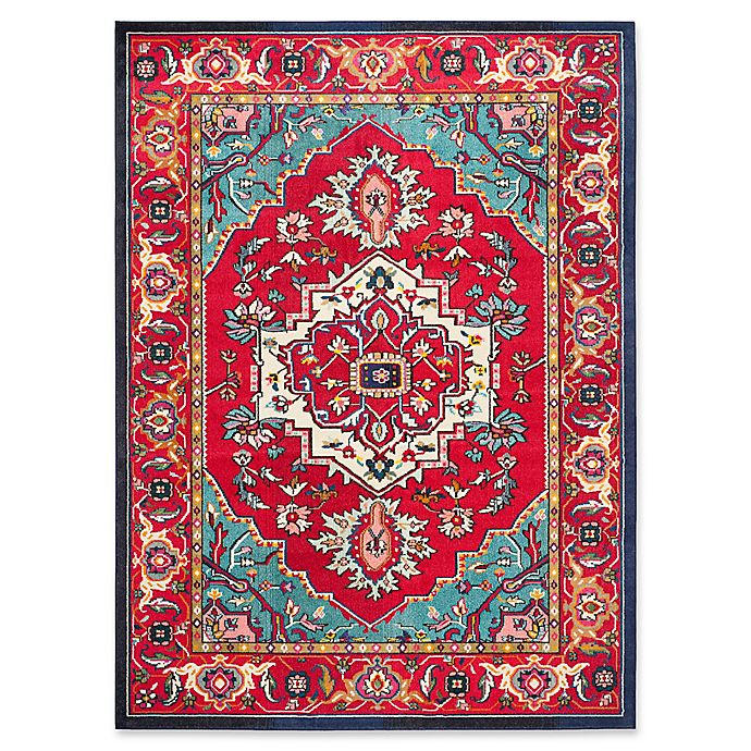 Alternate image 1 for Safavieh Monaco Traditional 8-Foot x 10-Foot Area Rug in Red/Turquoise
