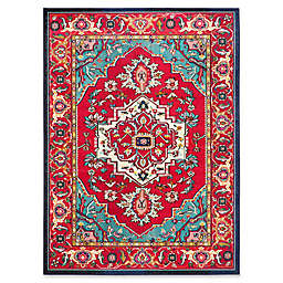 Safavieh Monaco Traditional 8-Foot x 10-Foot Area Rug in Red/Turquoise