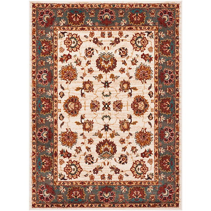 Alternate image 1 for Safavieh Summit Floral Border 6-Foot 7-Inch x 9-Foot 2-Inch Area Rug in Ivory/Grey