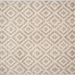 Safavieh Amsterdam Diamond 6-Foot 7-Inch Square Area Rug in Mauve