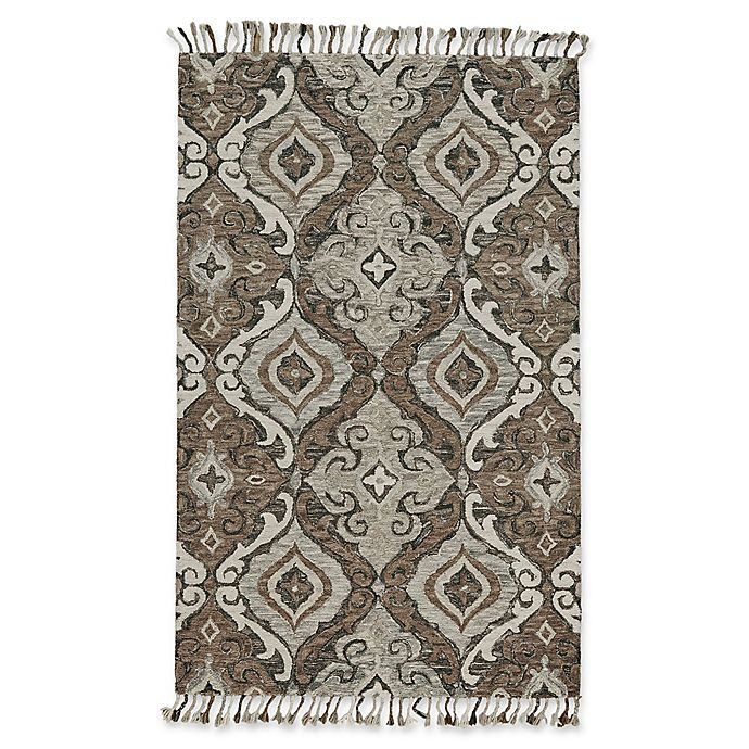 Alternate image 1 for Feizy Bromeliad Abelia 2-Foot x 3-Foot Accent Rug in Ivory/Grey