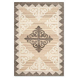 Safavieh Kenya Damask Rug in Brown/Charcoal