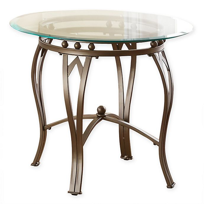 Steve Silver Co Madrid Glass Top End Table In Pewter Bed Bath