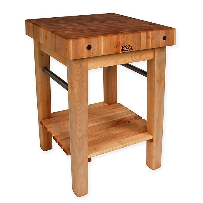 Alternate image 1 for John Boos Pro Prep Block Kitchen Cart