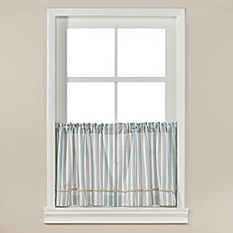 Harbor Knots Rod Pocket Kitchen Window Curtain Panel Pair in White