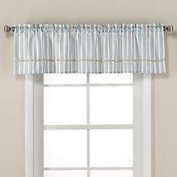 Harbor Knots 16-Inch Rod Pocket Kitchen Window Valance in White