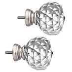 Cambria® Premier Complete Faceted Ball Finials in Polished Nickel (Set of 2)